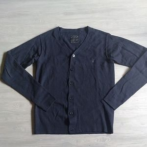 All Saints Sweaters - {All Saints} 100% Wool Navy Button Down Cardigan